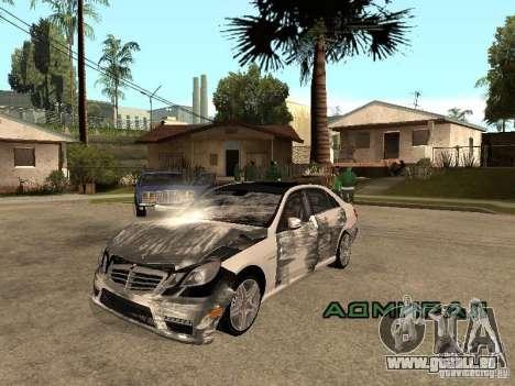 Mercedes-Bens e63 AMG für GTA San Andreas Rückansicht