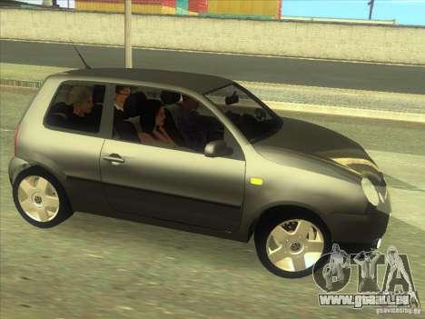 Volkswagen Lupo pour GTA San Andreas vue intérieure