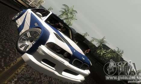 BMW M3 GTR pour GTA San Andreas vue de dessus
