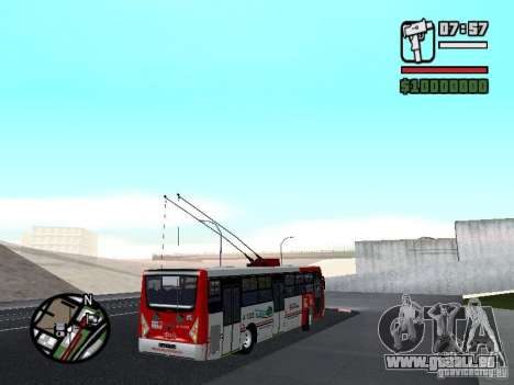 Caio Millennium TroleBus pour GTA San Andreas vue de droite