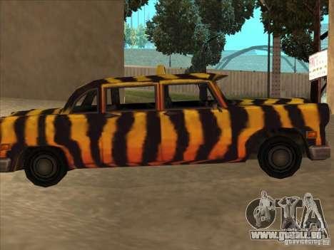 Zebra Cab von Vice City für GTA San Andreas linke Ansicht