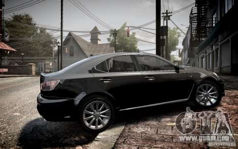 Lexus IS-F pour GTA 4 est une gauche