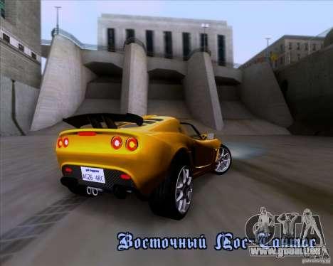 Lotus Exige für GTA San Andreas Innen