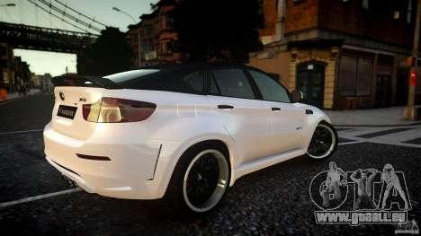 BMW X 6 Hamann pour GTA 4 Vue arrière de la gauche