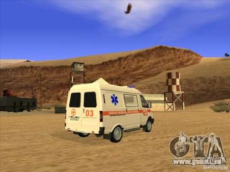 GAZ 22172 ambulance pour GTA San Andreas laissé vue