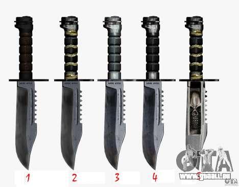 Das Messer von der Stalker Nr. 3 für GTA San Andreas dritten Screenshot