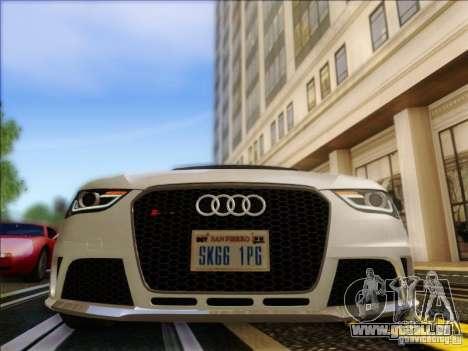 Audi RS4 Avant B8 2013 für GTA San Andreas Rückansicht