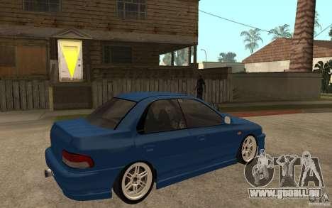 Subaru Impreza GC8 JDM SPEC pour GTA San Andreas vue de droite