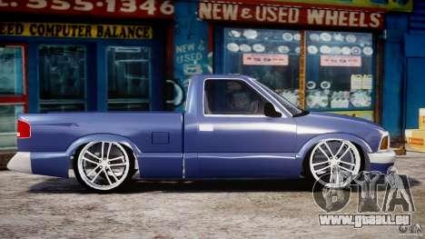 Chevrolet S10 1996 Draggin [Beta] pour GTA 4 est une vue de l'intérieur
