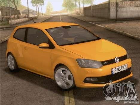 Volkswagen Polo GTI 2011 für GTA San Andreas obere Ansicht
