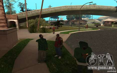 Skins Grove Street für GTA San Andreas her Screenshot