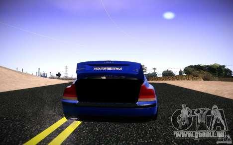 Volvo S 60R für GTA San Andreas Rückansicht