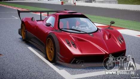 Pagani Zonda R pour GTA 4 est une vue de l'intérieur