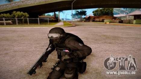 Turcotte Rapid SMG pour GTA San Andreas quatrième écran