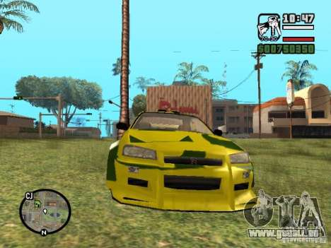 Nissan Skyline 2Fast 2Furious NEW für GTA San Andreas linke Ansicht