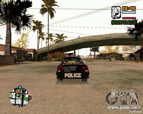 Voiture de police de NFS: MW pour GTA San Andreas vue de droite