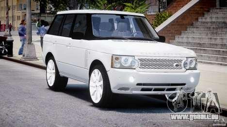 Range Rover Supercharged 2009 v2.0 pour GTA 4 Vue arrière