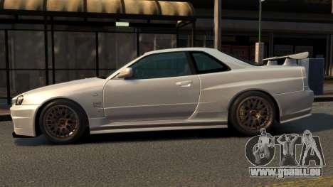 Nissan Skyline R34 2002 pour GTA 4 est une gauche