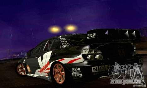 Subaru Impreza WRC 2007 für GTA San Andreas obere Ansicht