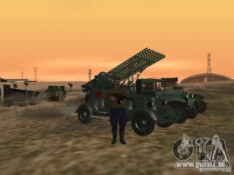 Officier soviétique BOB pour GTA San Andreas quatrième écran
