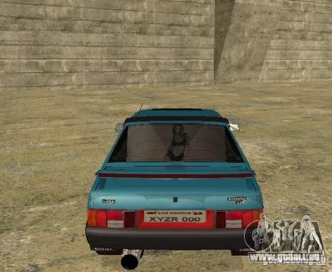 Mélodie sparco 21099 VAZ pour GTA San Andreas vue de droite