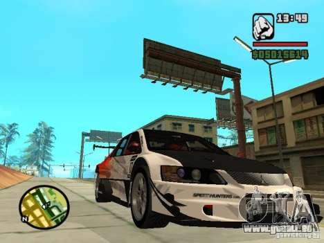 Mitsubishi Lancer Evo IX SpeedHunters Edition pour GTA San Andreas vue arrière