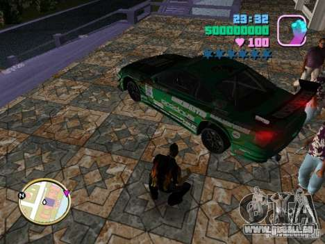 Nissan Silvia S15 Kei Office D1GP pour GTA Vice City vue latérale