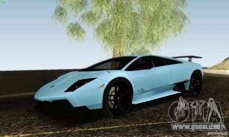 Lamborghini Murcielago LP 670-4 SV pour GTA San Andreas sur la vue arrière gauche