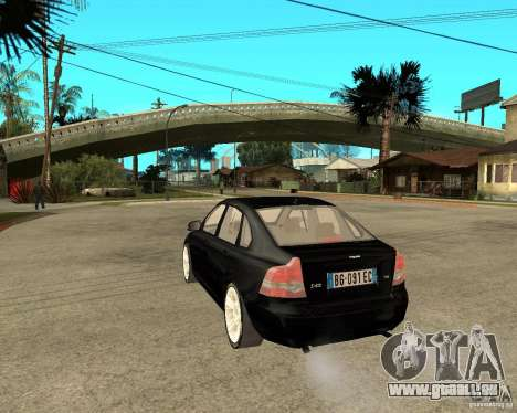Volvo s40 t5 2008 pour GTA San Andreas laissé vue
