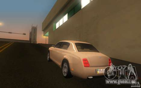 Bentley Continental Flying Spur pour GTA San Andreas laissé vue
