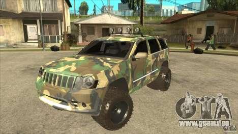 Jeep Grand Cherokee SRT8 Camo pour GTA San Andreas