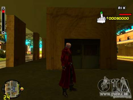 Dante pour GTA San Andreas deuxième écran