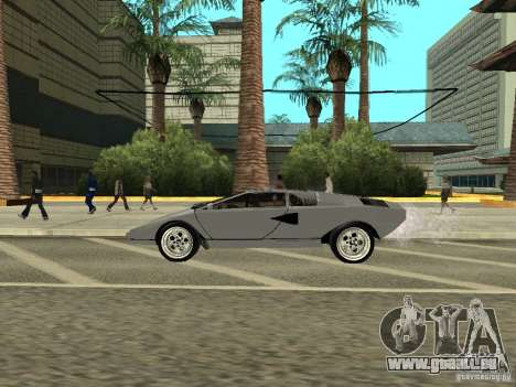 Lamborghini Countach LP400 pour GTA San Andreas sur la vue arrière gauche