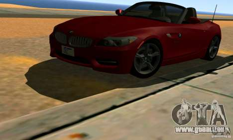 BMW Z4 2010 für GTA San Andreas Unteransicht