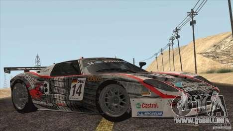 Ford GT Matech GT3 Series für GTA San Andreas Innen