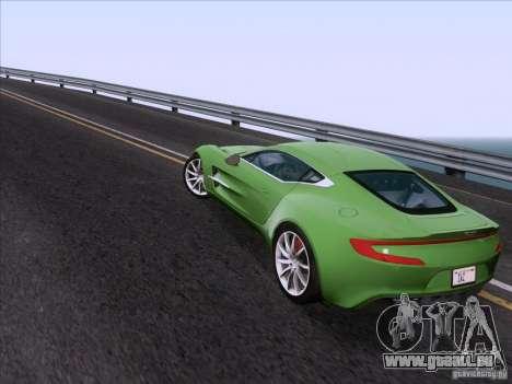 Aston Martin One-77 2010 pour GTA San Andreas vue intérieure