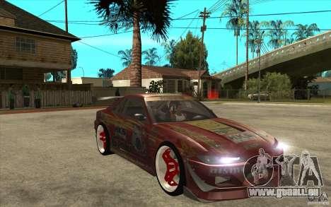 Nissan Silvia HKS Genki pour GTA San Andreas vue arrière
