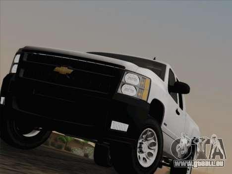 Chevrolet Silverado 2500HD 2013 pour GTA San Andreas vue de dessous
