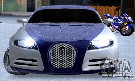 Bugatti Galibier 16c pour GTA San Andreas vue de dessus