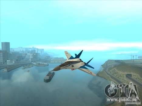 MiG-29 les martinets pour GTA San Andreas vue arrière