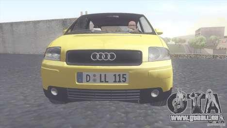 Audi A2 für GTA San Andreas zurück linke Ansicht