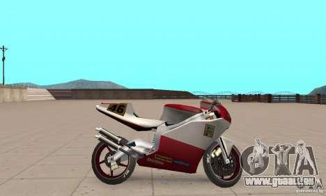 Ducati 999R pour GTA San Andreas sur la vue arrière gauche