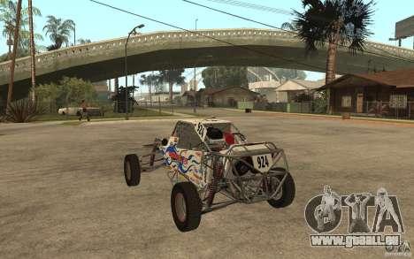 CORR Super Buggy 2 (Hawley) pour GTA San Andreas sur la vue arrière gauche