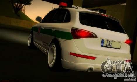 Audi Q5 TDi - Policija für GTA San Andreas zurück linke Ansicht