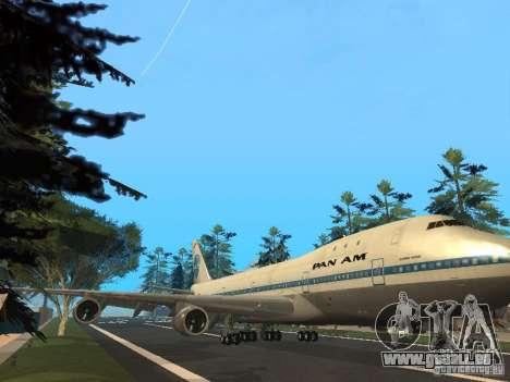 Boeing 747-100 Pan American Airways für GTA San Andreas linke Ansicht