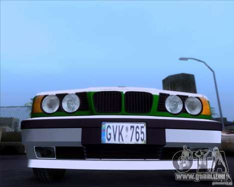 BMW E34 Policija für GTA San Andreas linke Ansicht