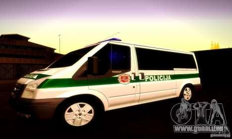 Ford Transit Policija für GTA San Andreas Seitenansicht