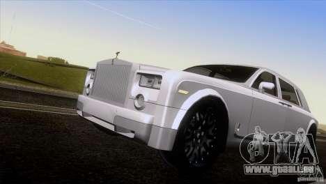 Rolls Royce Phantom Hamann pour GTA San Andreas vue de dessus