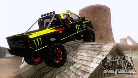 Dodge Ram 4x4 pour GTA San Andreas sur la vue arrière gauche