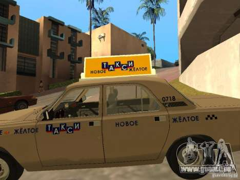 Taxi GAZ 31029 pour GTA San Andreas vue de dessus